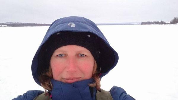 Op de bevroren Kemijoki